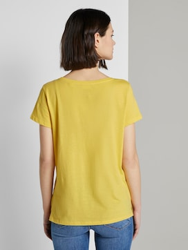 Cut-Out T-Shirt mit Bio-Baumwolle - 2 - TOM TAILOR Denim