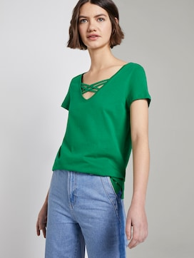 Cut-Out T-Shirt mit Bio-Baumwolle - 5 - TOM TAILOR Denim