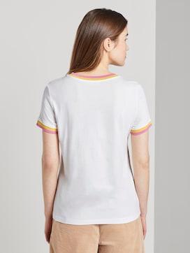 T-shirt uit jersey met contrasterende details - 2 - TOM TAILOR Denim