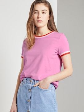 Jersey T-Shirt aus Bio-Baumwolle - 5 - TOM TAILOR Denim
