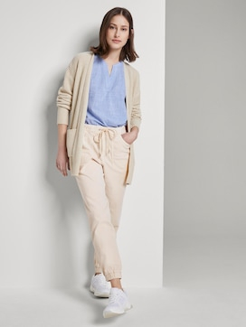 Relaxed-fit trousers with elastic leg cuffs - 3 - TOM TAILOR Denim