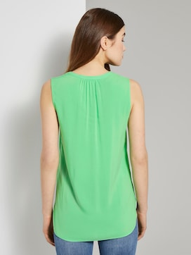 Sleeveless blouse with a Henley neckline - 2 - TOM TAILOR Denim