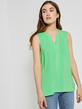 Sleeveless blouse with a Henley neckline - 5 - TOM TAILOR Denim