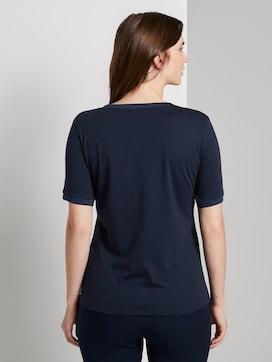 T-Shirt mit Kontrast-Blende - 2 - Mine to five