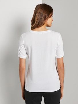 T-Shirt mit Kontrast-Blende - 2 - Tom Tailor E-Shop Kollektion