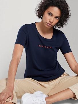 T-Shirt mit Schrift-Print - 5 - Mine to five