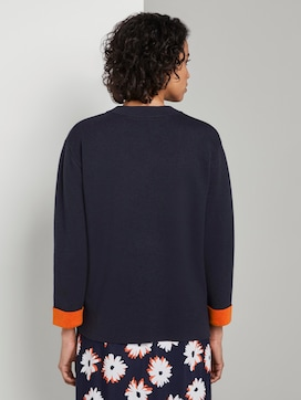 Knitted sweater with contrast details - 2 - Tom Tailor E-Shop Kollektion