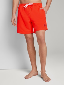 Swimming trunks with slanted pockets - 1 - TOM TAILOR