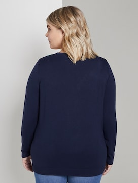 Knitted sweater with a two-tone neckline - 2 - My True Me