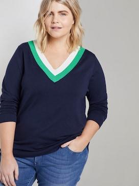Gebreide trui met tweekleurige halslijn - 5 - My True Me