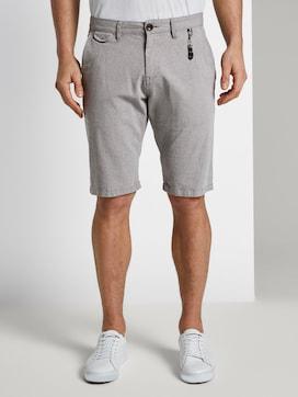 Getextureerde Chino Shorts met sleutelhanger - 1 - TOM TAILOR