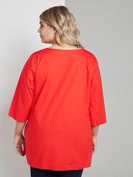 3/4 Arm Bluse mit Falte - 2 - Tom Tailor E-Shop Kollektion