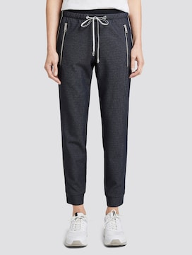 Loose-fit trousers with zippers - 1 - TOM TAILOR