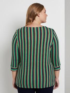 Gestreiftes Shirt mit Knoten-Detail - 2 - My True Me