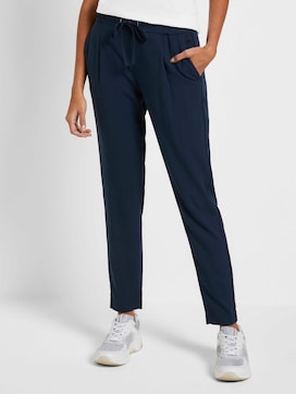 Trousers with piped stripes - 1 - Mine to five
