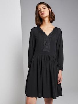 Mini-dress with lace trim - 5 - TOM TAILOR Denim