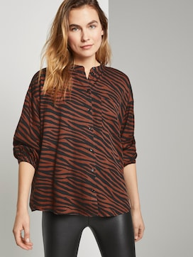 Toni Garrn: Blouse with puff sleeves - 5 - TOM TAILOR
