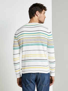 Striped knitted sweater - 2 - TOM TAILOR