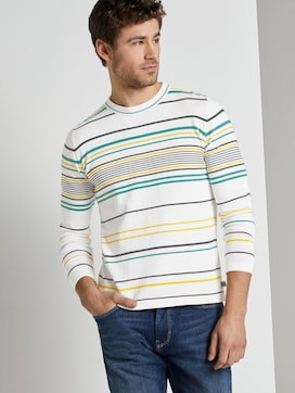 Striped knitted sweater - 5 - TOM TAILOR