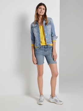 Alexa slim Bermuda denim shorts - 3 - TOM TAILOR