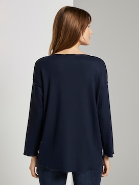 Geripptes Oversized Shirt - 2 - TOM TAILOR Denim