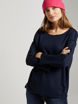 Geripptes Oversized Shirt - 5 - TOM TAILOR Denim