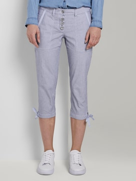 Geknöpfte Tapered Relaxed Hose - 1 - TOM TAILOR