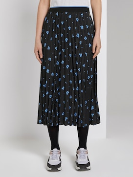 Midi pleated skirt with floral print - 1 - TOM TAILOR Denim