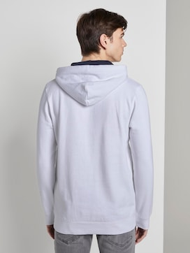 Hoodie with print on the sleeve - 2 - TOM TAILOR Denim