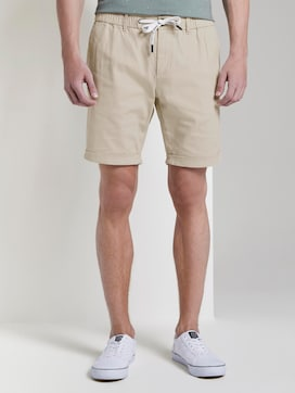 Structured Chino shorts with a drawstring - 1 - TOM TAILOR Denim