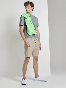 Structured Chino shorts with a drawstring - 3 - TOM TAILOR Denim