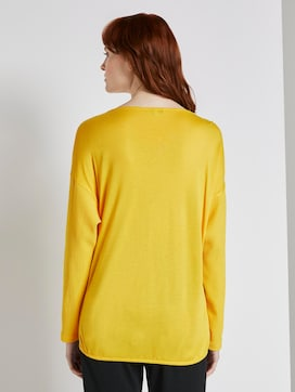 Long-sleeved top with cut-out details - 2 - TOM TAILOR