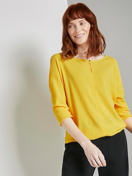 Long-sleeved top with cut-out details - 5 - TOM TAILOR