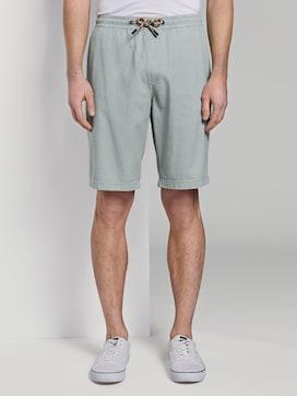 Strukturierte Shorts im Jogger-Fit - 1 - TOM TAILOR Denim