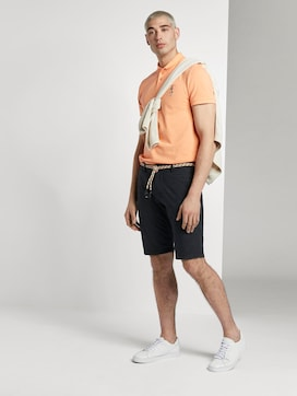 Patterned chino shorts with a drawstring belt - 3 - TOM TAILOR Denim