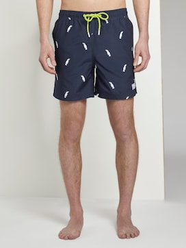 Swimming trunks with an all-over pattern - 1 - TOM TAILOR Denim