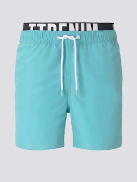 Swimming trunks with an elastic logo waistband - 7 - TOM TAILOR Denim