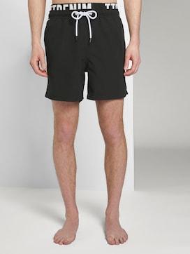 Zwemshort met elastische tailleband met print - 1 - TOM TAILOR Denim