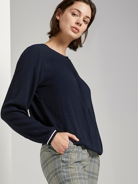 Blouse in crincle look - 5 - TOM TAILOR