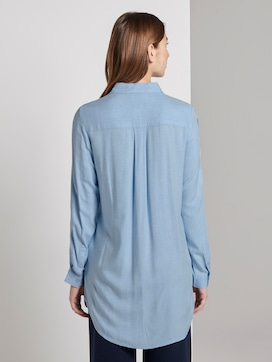 Lange blouse met tape detail - 2 - TOM TAILOR