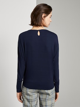 Crepe blouse with knotted details - 2 - TOM TAILOR