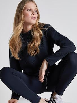 Strukturiertes Sweatshirt mit elastischem Bund - 5 - TOM TAILOR