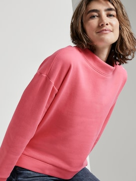 Sweatshirt with a stand-up collar - 5 - TOM TAILOR