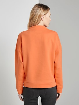 Sweatshirt with a stand-up collar - 2 - TOM TAILOR