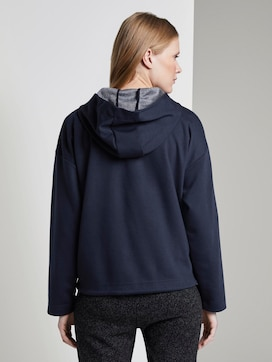 Sweat jacket with a drawstring - 2 - TOM TAILOR
