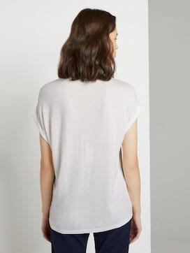 T-Shirt aus Chiffon - 2 - TOM TAILOR