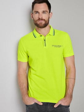 Sporty polo shirt with a print - 5 - TOM TAILOR