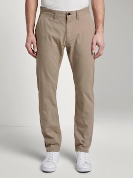 Textured Travis slim chino trousers - 1 - TOM TAILOR