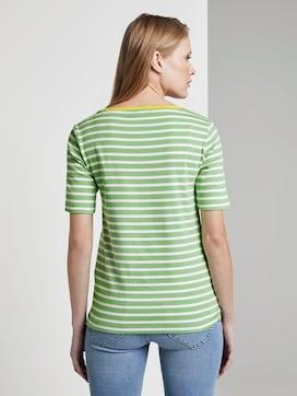 Gestreiftes T-Shirt mit Kontrastblende - 2 - TOM TAILOR