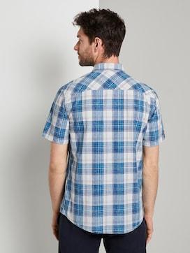 Checked short-sleeved shirt - 2 - TOM TAILOR